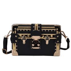 Мини площади Для женщин сумка с заклепками модные коробка Курьерские сумки маленькие девочки сумки на плечо дамы сумки Брендовая