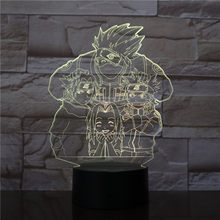 Saiyan Goku Dragon Ball Kakarotto 3D LED Night Light Lâmpada de Tabela Do Partido Home Decor Kid Toy Decor Noite Presente o Transporte da gota(China)