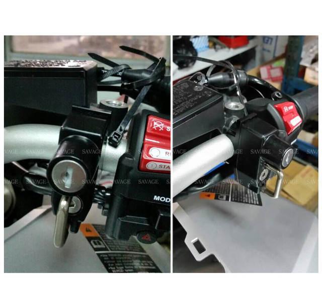 US $14 99 |Helmet Lock For HONDA MSX 125 Grom/Monkey CMX 250 Rebel XR650L  XR650R XR600R XR400R Motorcycle Accessories Handlebar Bar Clamp-in Covers &