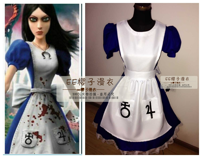 Alice: Madness Returns  Alice alice Cosplay Costume Custom Any Size