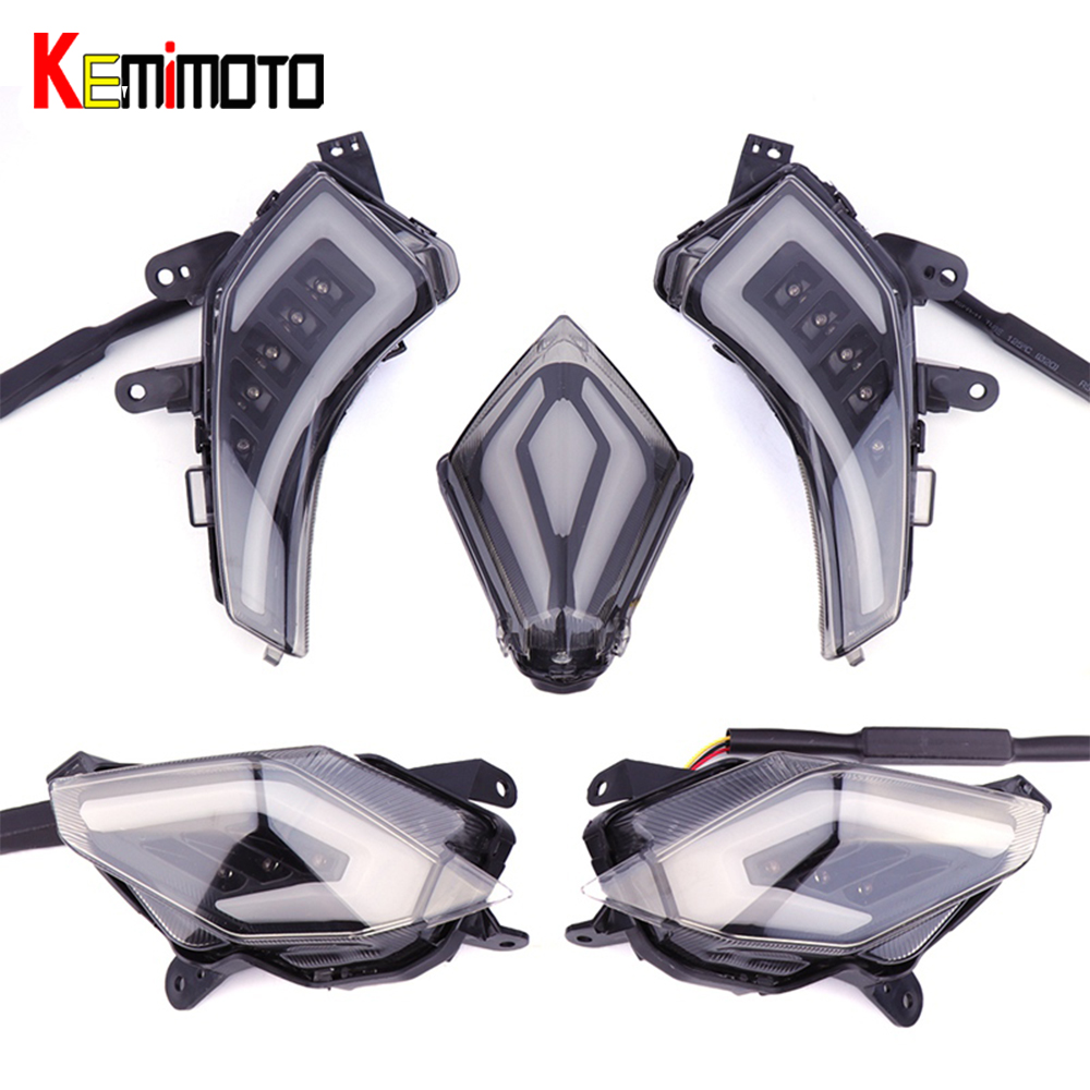 KEMiMOTO Signal Lumineux Pour YAMAHA Tmax 530 T-Max530 TMAX530 T-max 530 2012-2016 Arrière Queue Lumière De Frein LED Clignotant Feu Arrière