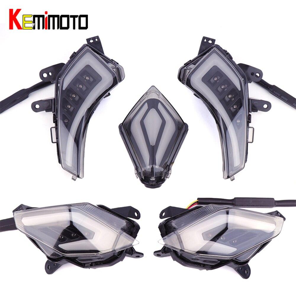 KEMiMOTO pour YAMAHA Tmax 530 T-Max530 TMAX530 t-max 530 2012-2016 feu de frein arrière LED clignotant accessoires de feux arrière