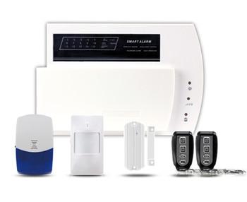 LCD Display GSM+PSTN Burglar Alarm System