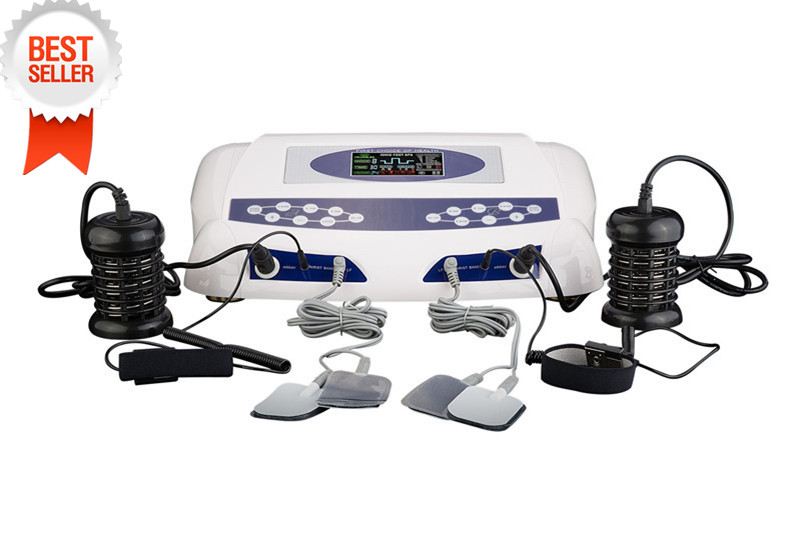 New Item Two Persons Dual Detox Machine Foot Spa Machine Ion Cleanse with Massage Slice Wrist Belt Single Display Foot Massage ah 805d dual person ion cleansing machine detox foot spa dual screen with massage slipper slice wrist belt foot bath spa