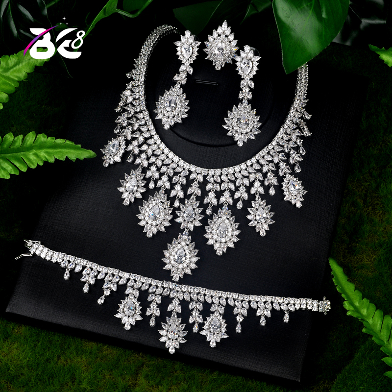 Be 8 Latest Fashion New Design Bridal Jewelry Sets Fashion Jewelry Wedding Party Necklace Set Parure Bijoux Femme S076 emmaya luxury freshwater pearl bridal jewelry sets silver color earring necklace set wedding jewelry parure bijoux femme
