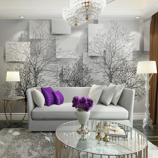 Home Office Decor Mural Wall Papers 3d Modern Photo Wallpaper Living Room  Bedroom TV Wall