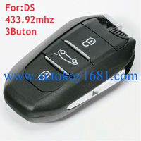 OEM 3button smart key 433.92mhz with blade for Peugeot 508 DS Citroen C4L Original remote key with LOGO Free shipping
