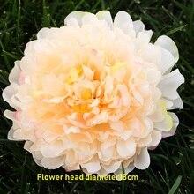10 шт., цветущий пион, шелк, большая голова, Флорес, 18 см, искусственные цветы, для дома, свадьбы, Декор, сделай сам, шляпы, mariag, аксессуары, подарки на год