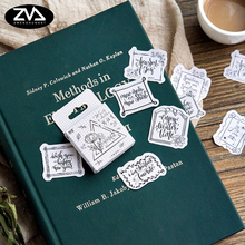 45 Pcs/box Creative Write a letter mini Paper Decoration DIY Scrapbook Notebook Album seal Sticker Stationery Kawaii Stickers 45 pcs box moon style mini paper decoration diy scrapbook notebook album seal stickers stationery kawaii girl sticker
