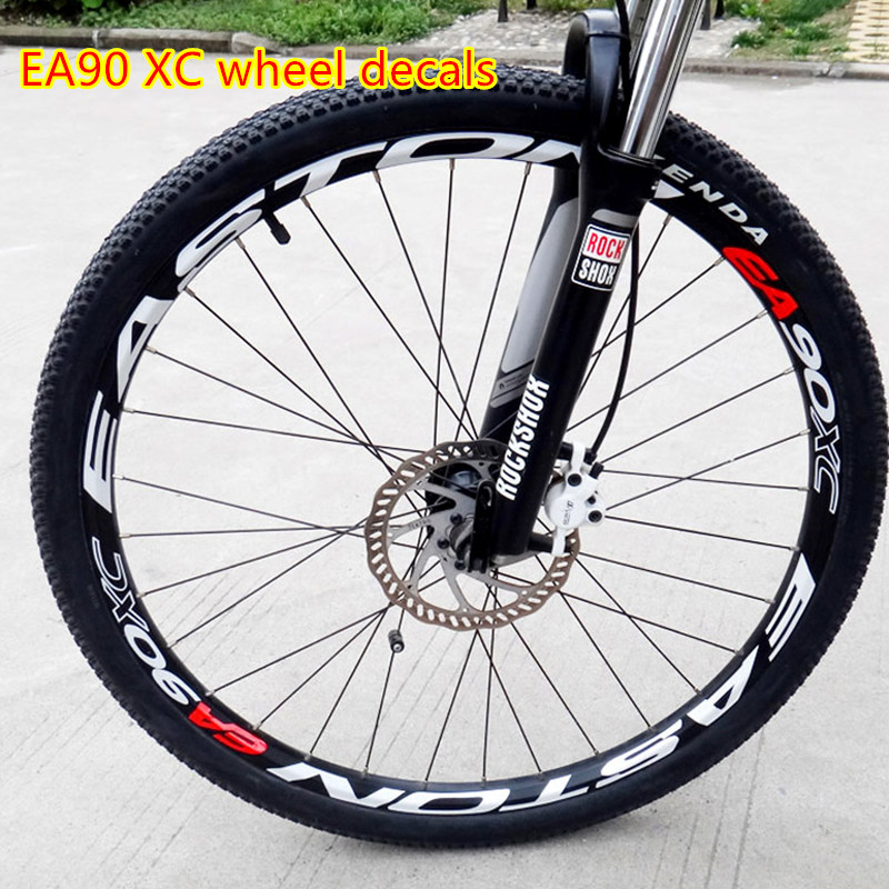 Spor ve Eğlence'ten Bisiklet Çıkartmaları'de EA90XC çark seti çıkartmalar bisiklet 26/27.5/29 inç jantlar dağ bisikleti tekerlek jant çıkartmaları yansıtıcı çıkartmaları filmi