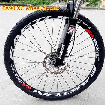 EA90XC Rad Set Aufkleber Bike 26/27,5/29 Zoll Räder Berg Fahrrad Laufradsatz Felge Aufkleber Reflektierende Aufkleber Film