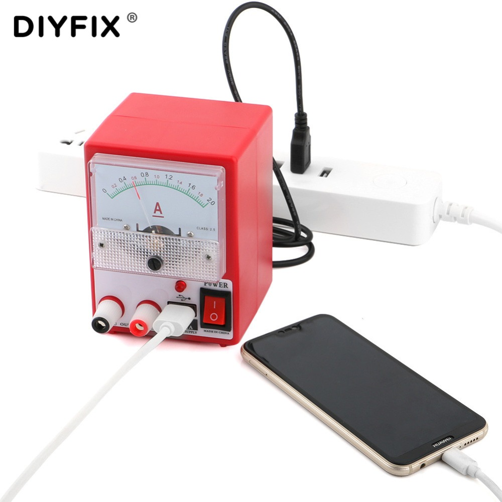 5V 2A Mini DC Power Supply Ammeter for Mobile Phone Repair Tool Ampermetre Power Source Short Circuit Protection Test Tools Set5V 2A Mini DC Power Supply Ammeter for Mobile Phone Repair Tool Ampermetre Power Source Short Circuit Protection Test Tools Set