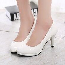 2017 new spring autumn casual high-heeled shoes sexy ruslana korshunova thick heels platform pumps Black White Size EU35-EU40