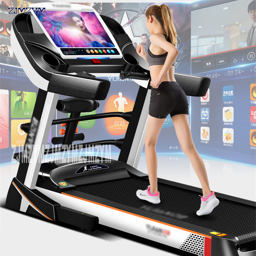 15.6 inch family run treadmill Color screen WIFI multi-function electric Treadmill For house Fitness Equipment  Running 8096
