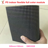 DIY P5 Smd Indoor Flexible Led Panel Use For Special Shapes Led Display Screen 40000dots Sqm