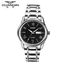 Marca Los Hombres Reloj de Lujo GUANQIN Reloj Mecánico Calendario Luminoso Impermeable Relojes Para Hombre Reloj Relogio masculino reloj Grande Del Dial