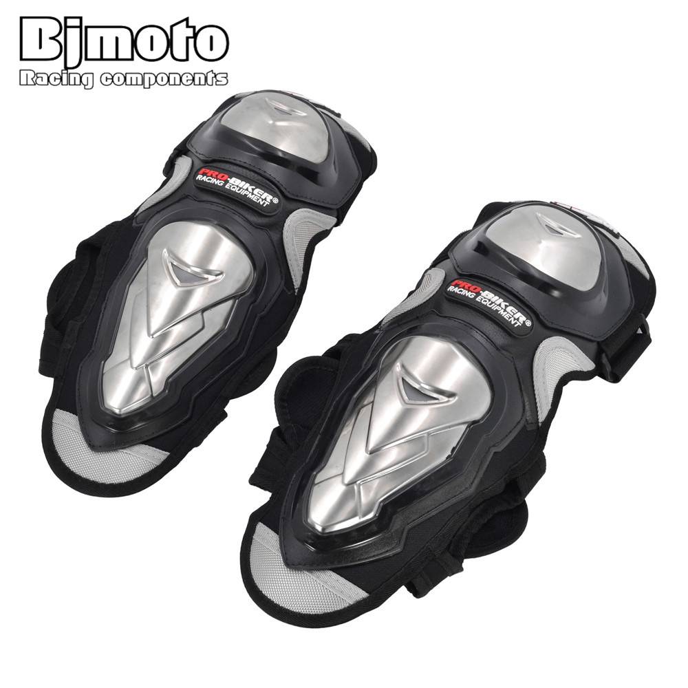PRO-BIKER 4PCS Knee Pad Motorcycle Riding Kneepad Motocross Off Road Elbow and Knee Protective Gear Brace Pads Protector Guard
