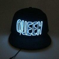10 Colors Neon Led Bulbs Luminous Led Light 3D Queen Letter Couples Cap EL Wire Glowing