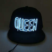 10 Colors Neon Led Bulbs Luminous Led Light 3D Queen Letter Couples Cap EL Wire Glowing