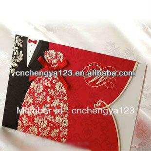 2013latest Wedding Card Designs Fashion High Quality Handmade