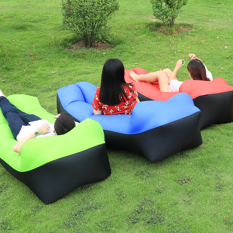 Opblaasbare Lounge Stoel.Licht Gewicht Opblaasbare Slaapzak Grote Zitzak Opblaasbare Lounge