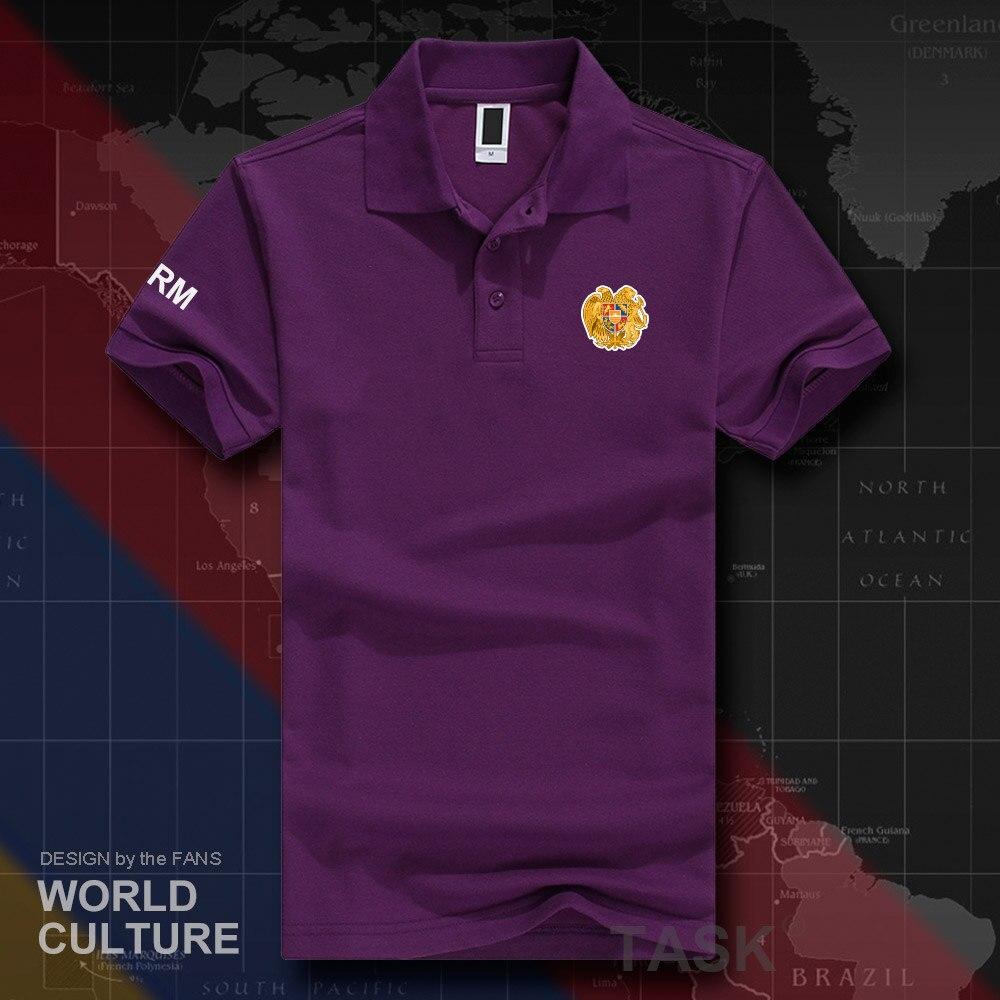 2019 Neuestes Design Republik Armenien Arm Polo Shirts Männer Kurzarm Weiß Marken Gedruckt Für Land 2018 Baumwolle Nation Emblem Neue Mode