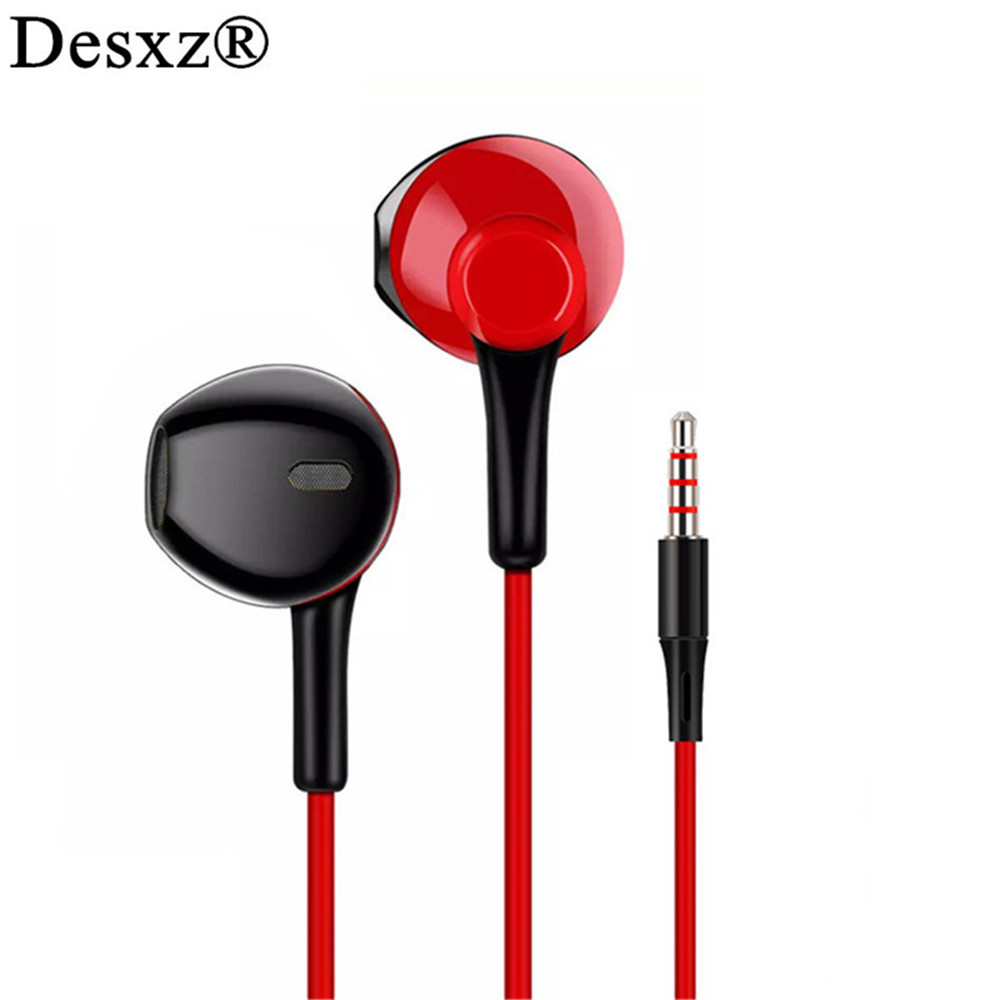 Desxz Professional Wired Earphones Noise Canceling Headsets Stereo for mobile phone iPhone Xiaomi MP3 Gaming Earpieces Earbuds купить windows mobile 6 5 3 professional