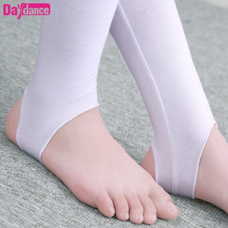 61e967f2c8 Crianças meninas do Ballet Estribo Collants Meia-calça meias Criança Dança  Leggings Spandex Algodão Yoga Calças de Ginástica Dança