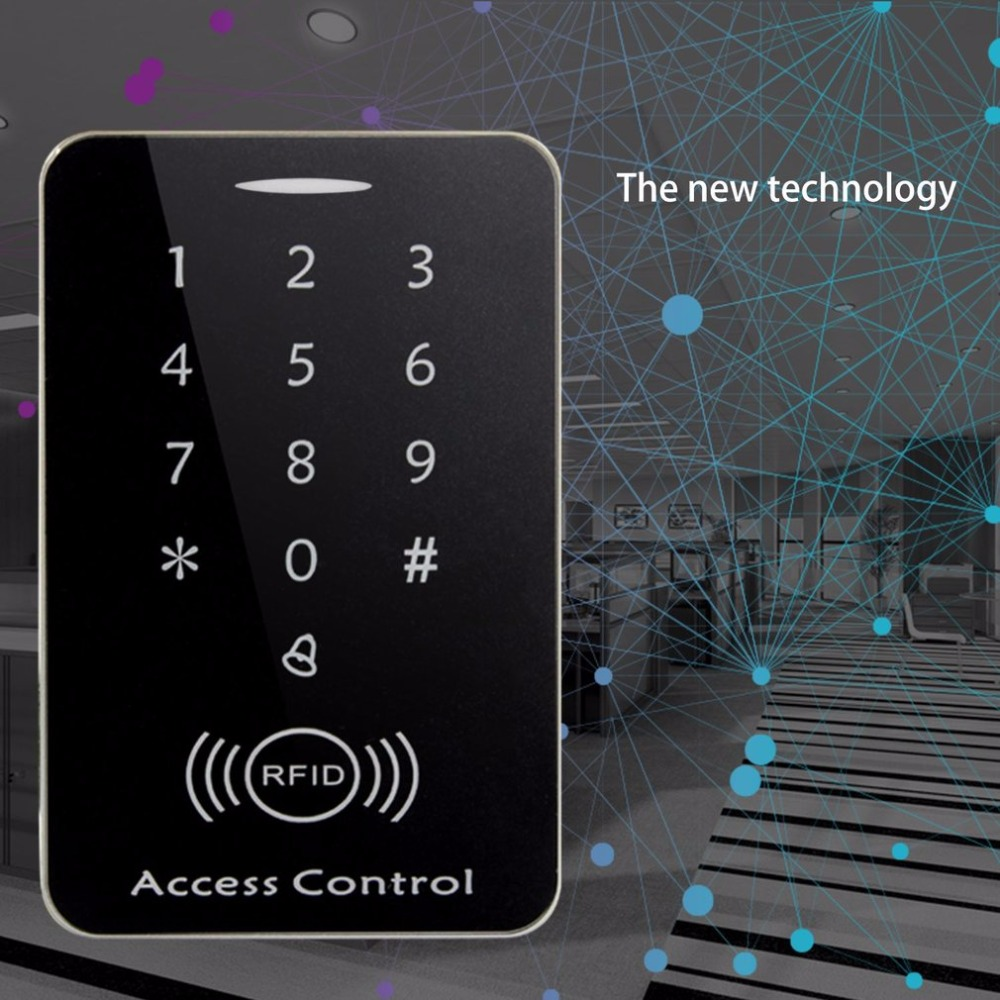 M203SE RFID Standalone Touch Screen Access Control Card Reader With Digital Keypad 10pcs Keys Card For Home Apartment Factory contact card reader with pinpad numeric keypad for financial sector counters