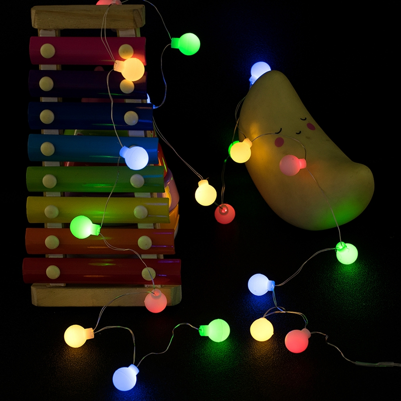 LED light string 1 5M Cherry Ball fairy Garland Light Battery Warm white Business wedding Christmas outdoor decoration in LED String from Lights Lighting