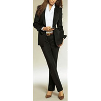 New Female Pants Suit Black Women Ladies Custom Made Office Business Tuxedos Formal Work Wear Suits
