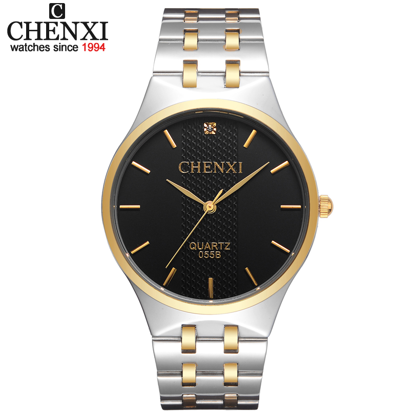 CHENX Women Watches Men Quartz Watch Luxury Brand Men Stainless Steel Golden Wristwatch Famous Relogio Masculino Men's Clock