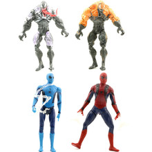 цена на 4Pcs/set Magical The Amazing Spiderman Venom with Lighted Lizard PVC Figures Collectible Model Toys Children's Gifts