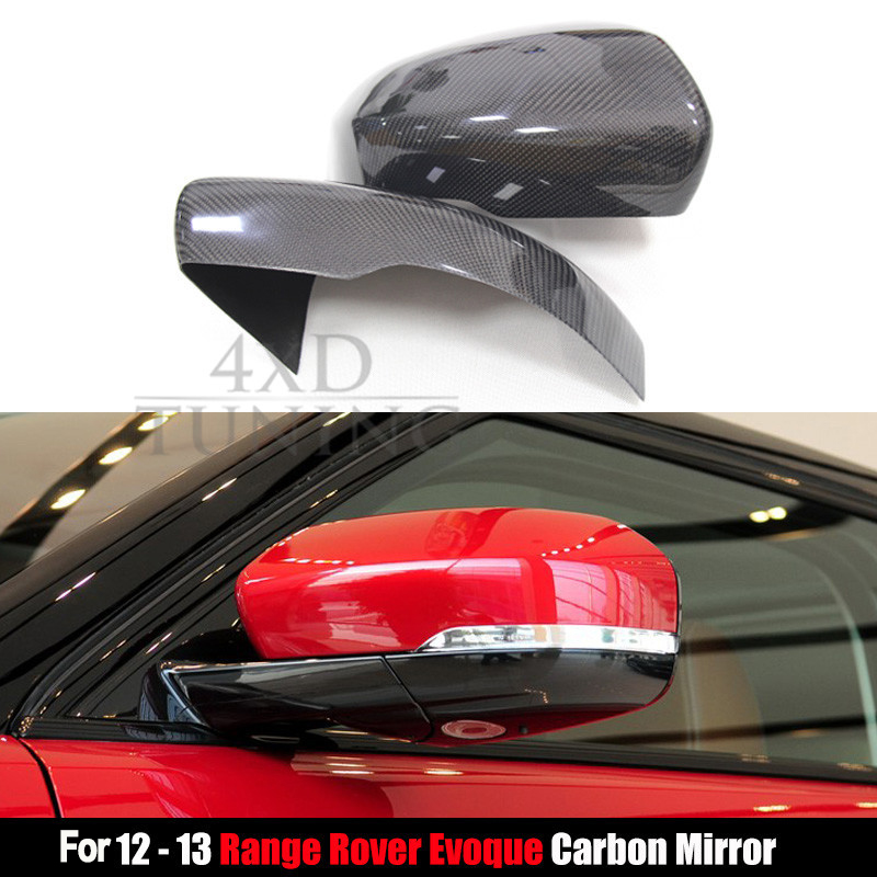 For Land Rover Range Rover Evoque Carbon Fiber Mirror Cover Rear View Side Mirror 2012 2013 Replacemetn Style & Add on Style shu uemura uv spf30 pa 65g