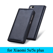 For Xiaomi 5s Leather Case Business Flip Phone Cover 100% Genuine Leather Skin Protector for Xiaomi 5s plus Free Shipping