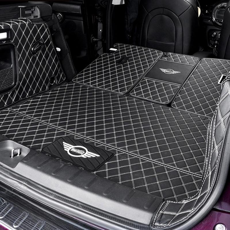 Tapis de protection de coffre de voiture en cuir Pad accessoires de style de voiture pour BMW MINI Cooper S JCW F54 F55 F56 F60 R60 CLUBMAN COUNTRYMAN - 2