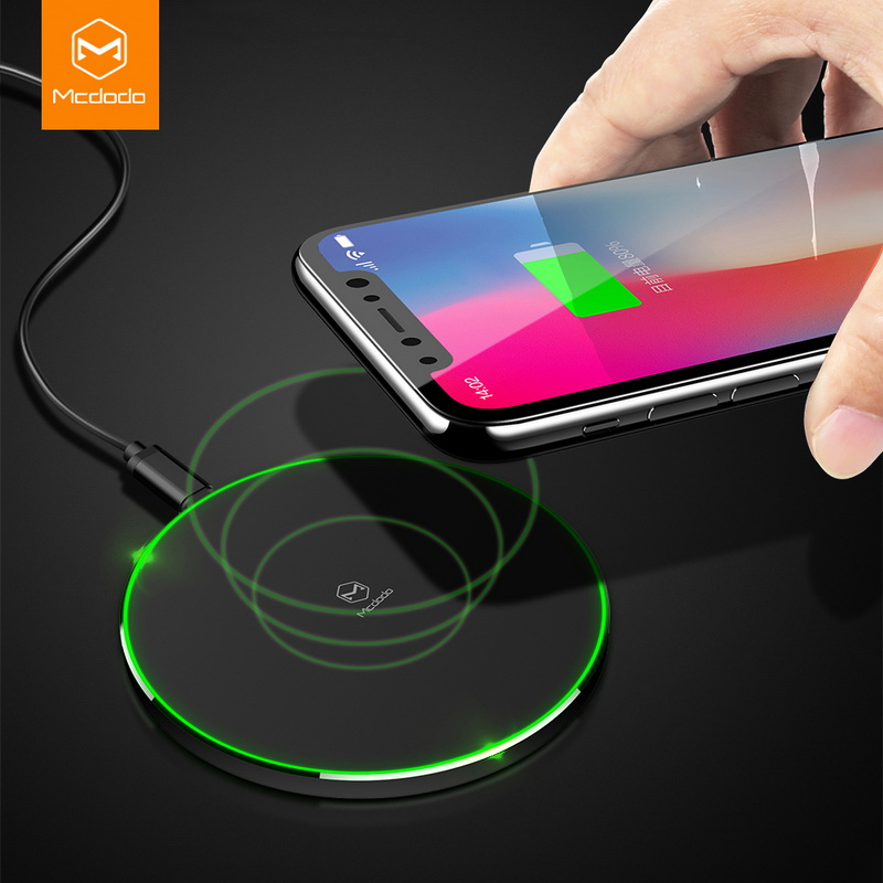 MCDODO Qi Wireless Charger For iPhone 8 X 10 For Samsung Galaxy S8 S8 Plus Note 8 S6 S7 Edge Mobile Phone 10W Charging Pad Dock