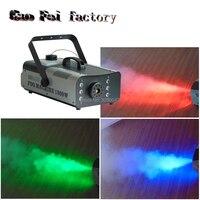 1500 Вт RGB 3в1 DMX светодиодный дымовая машина Fogger 24 шт. RGB 3в1 светодиодный цветной противотуманный станок