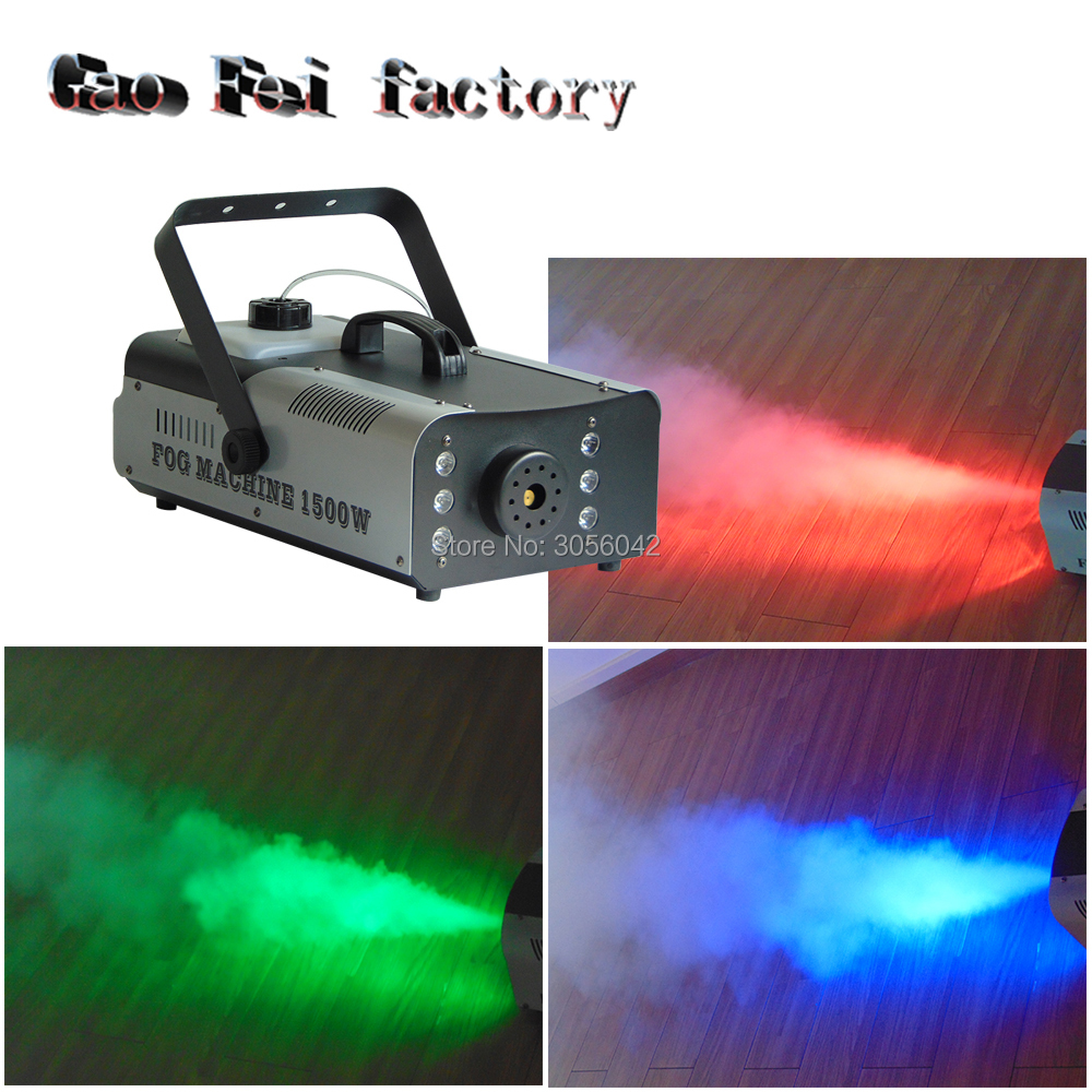 Stage Lighting Effect Lights & Lighting The Cheapest Price 1500w Rgb 3in1 Dmx Led Fogger Smoke Machine 24pcs Rgb 3in1 Led Colorful Fog Machine Pleasant To The Palate