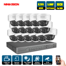 HD 16CH 5MP POE security camera System Kit H.265 POE IP Camera indoor Outdoor Waterproof vandal cctv Video Surveillance NVR set h 265 16ch 4mp 2592 1520 ip poe video security surveillance camera system 16 waterproof night vision hd cctv ip camera kit