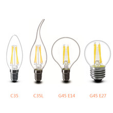 LED Bulb E27 LED Lamp E14 LED 220V E27 Bulb B22 230V Filament Edison Lamp E14 Vintage Candle Light Chandelier Incandescent Bulb(China)