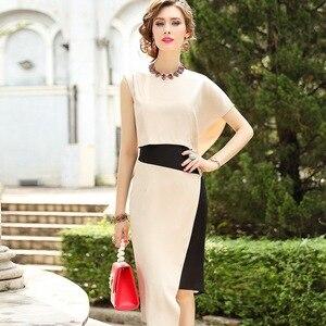 Image 2 - 2019 ใหม่คุณภาพสูงผู้หญิง Party Dress Plus ขนาดผู้หญิงเซ็กซี่แฟชั่นชุดอสมมาตร Vintage dresses