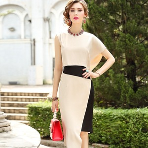 Image 2 - 2019 新優れた品質女性パーティードレスプラスサイズ女性のセクシーなファッションノベルティドレス非対称ノースリーブヴィンテージドレス