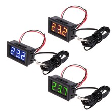 High quality -50 ~ 110 degree DC 12v Digital LED Thermometer Car Temperature Monitor Panel Meter(China)