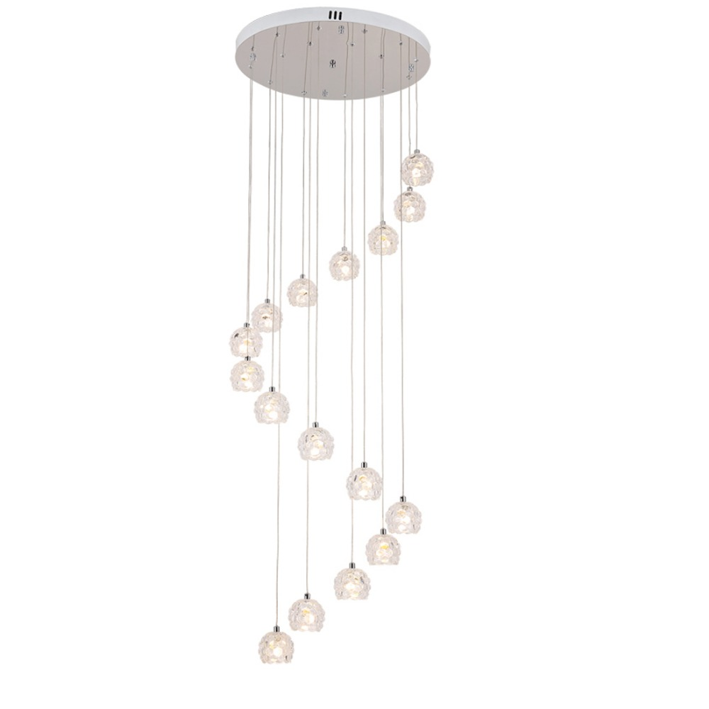 LED Pendant Warehouse Lighting Stairway Modern pendant lights for living room LED Spiral Pendant Lamp for Dining Room Lamps a1 master bedroom living room lamp crystal pendant lights dining room lamp european style dual use fashion pendant lamps