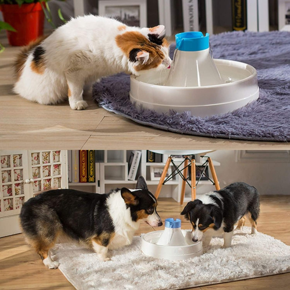 3L Automatic Pet Water Fountain Cat Dog Pet Drinking Bowl Dispenser Dish Filter 360 degree plastic auto feeding bowl for pet dog cat black white 946 3ml