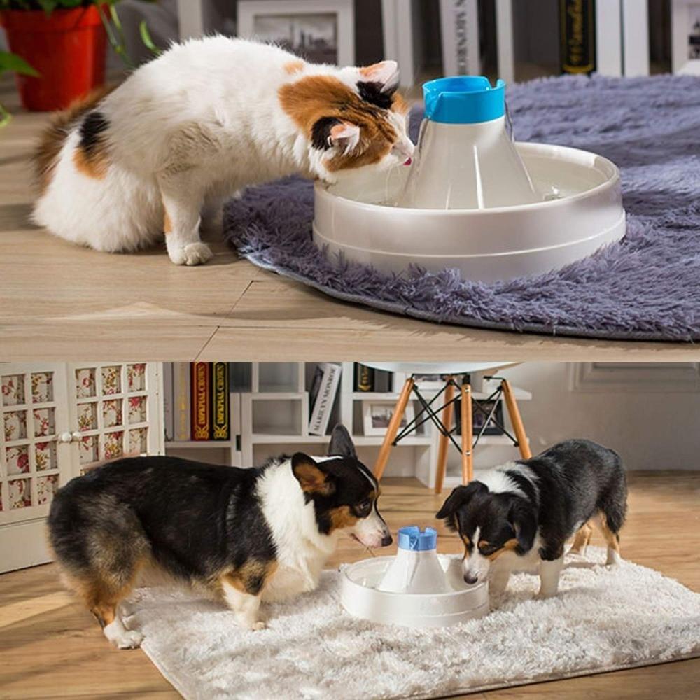 цена на 3L Automatic Pet Water Fountain Cat Dog Pet Drinking Bowl Dispenser Dish Filter 360 degree