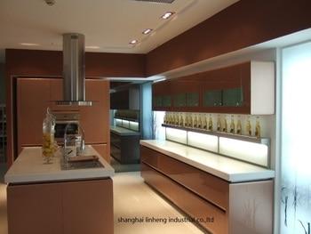 High gloss/lacquer kitchen cabinet mordern(LH-LA056) 1
