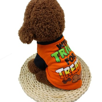 Pet Clothes Cool Halloween Cute Pet T Shirts Clothing Small Puppy Costume Dropshipping