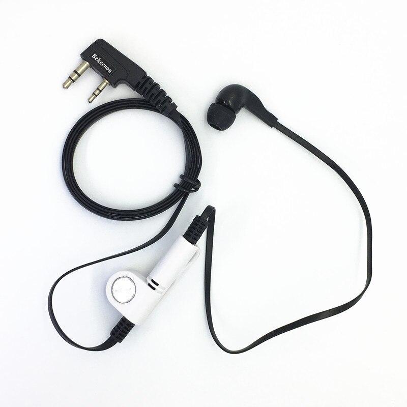Black Fashion Noodle Style Earbud Headphone K Plug For KENWOOD Baofeng BF888s UV5R UV82 Wouxun TYT Puxing Etc Walkie Talkie